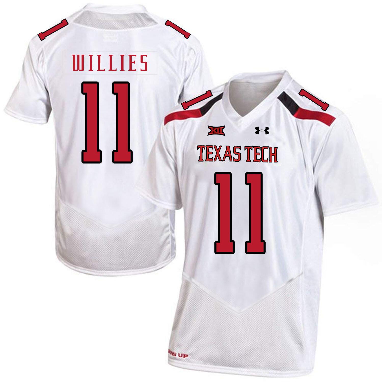 Texas Tech #11 Derrick Willies NCAA College Football Jersey White