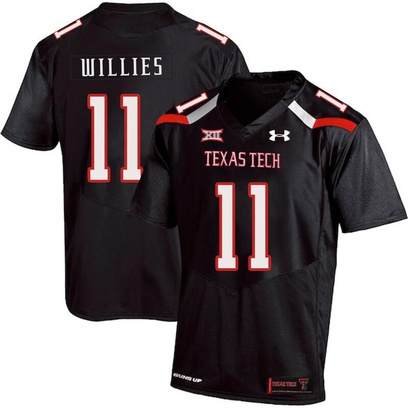 Texas Tech #11 Derrick Willies NCAA College Football Jersey Black