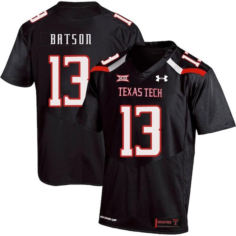 Texas Tech #13 Cameron Batson NCAA College Football Jersey Black