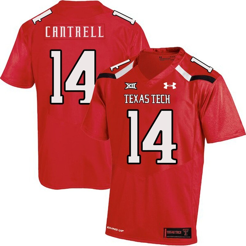 Texas Tech #14 Dylan Cantrell NCAA College Football Jersey Red