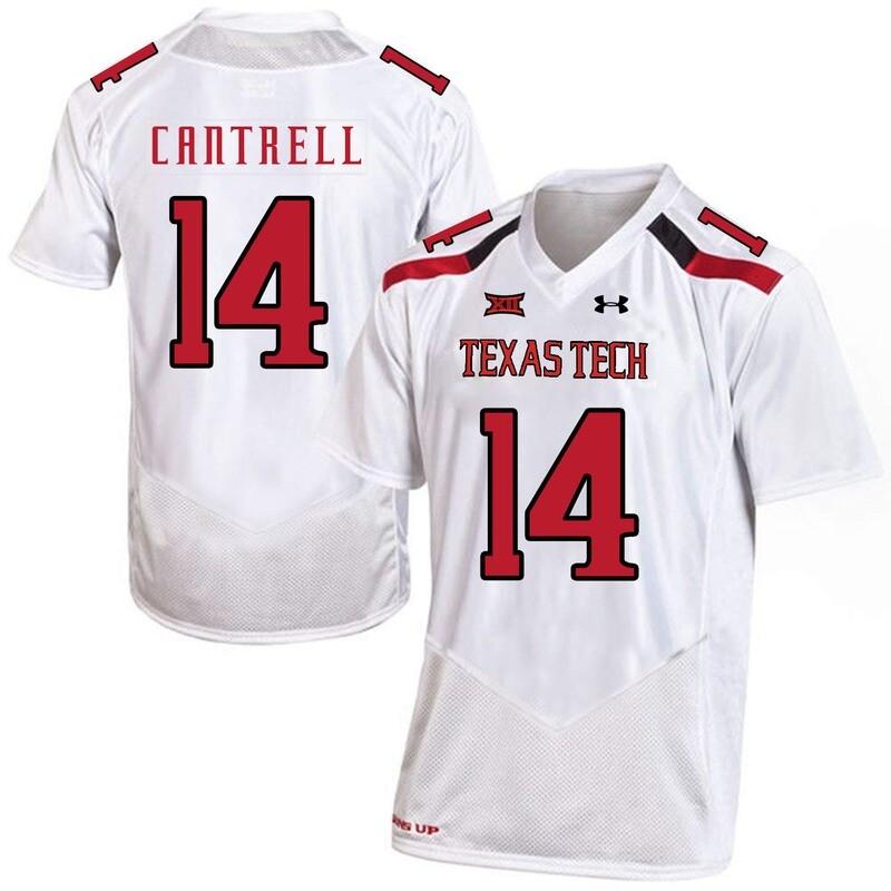 Texas Tech #14 Dylan Cantrell NCAA College Football Jersey White