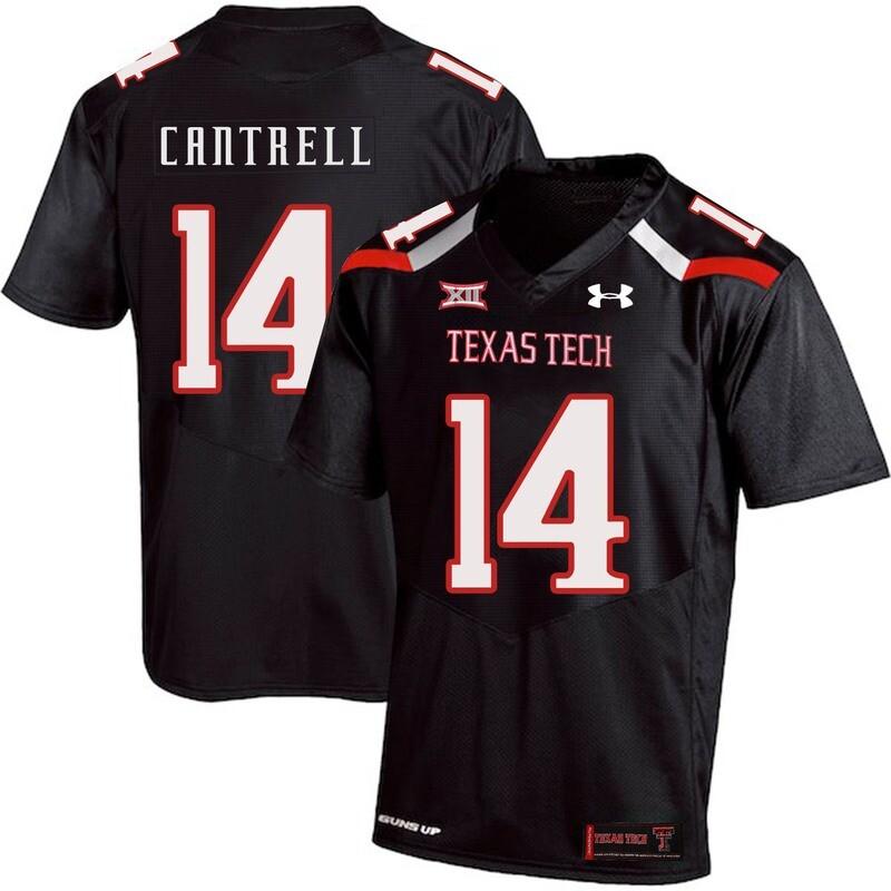 Texas Tech #14 Dylan Cantrell NCAA College Football Jersey Black