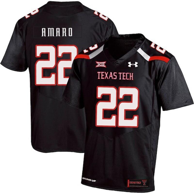 Texas Tech #22 Jace Amaro NCAA College Football Jersey Black
