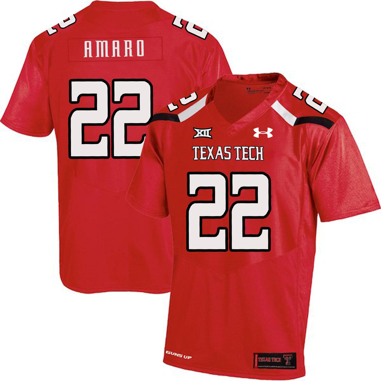 Texas Tech #22 Jace Amaro NCAA College Football Jersey Red