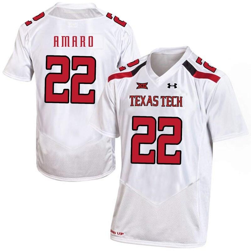 Texas Tech #22 Jace Amaro NCAA College Football Jersey White