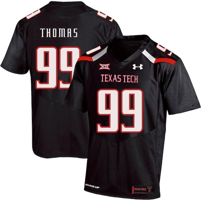 Texas Tech #99 Mychealon Thomas NCAA College Football Jersey Black