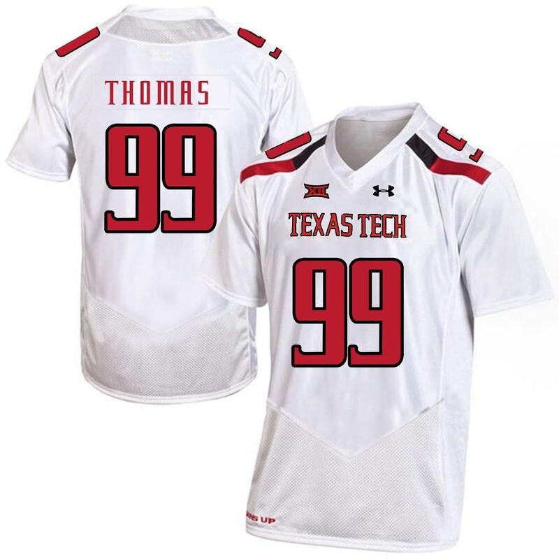 Texas Tech #99 Mychealon Thomas NCAA College Football Jersey White