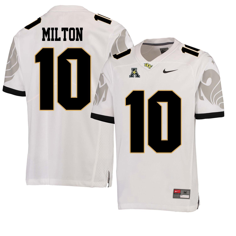 UCF Knights #10 Mckenzie Milton NCAA College Football Jersey White
