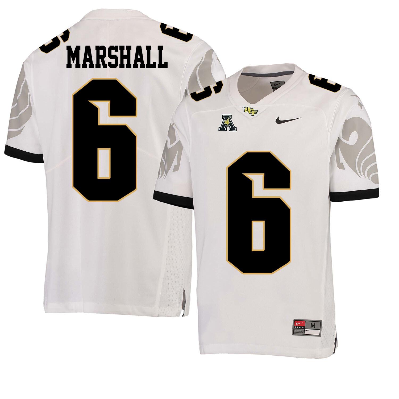 UCF Knights #6 Brandon Marshall NCAA College Football Jersey White