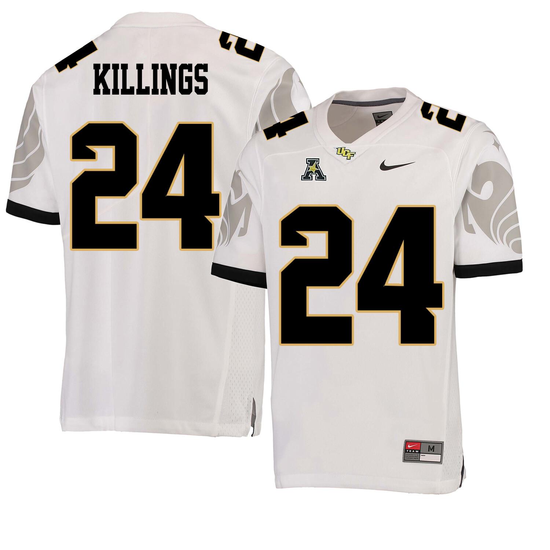 UCF Knights #24 DJ Killings NCAA College Football Jersey White