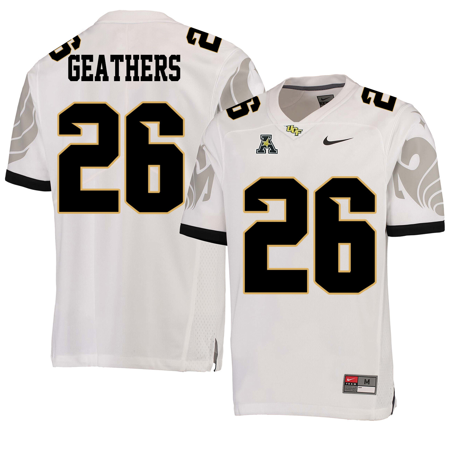 UCF Knights #26 Clayton Geathers NCAA College Football Jersey White