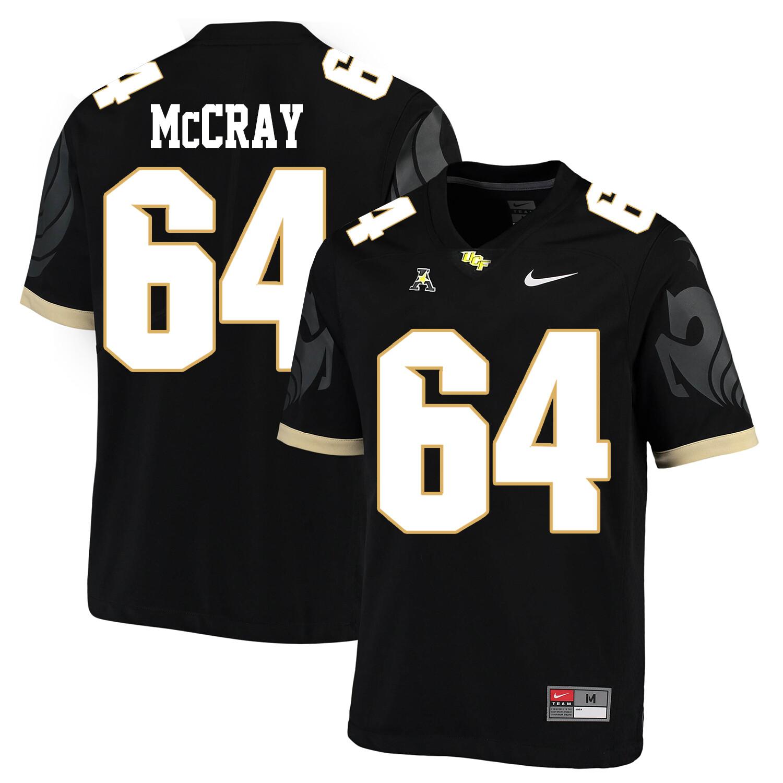 UCF Knights #64 Justin McCray NCAA College Football Jersey Black