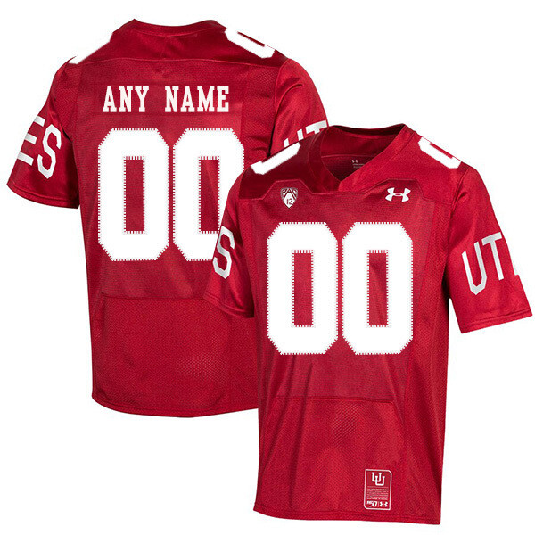 Utah Utes Custom Name and Number NCAA College Football Jersey Red