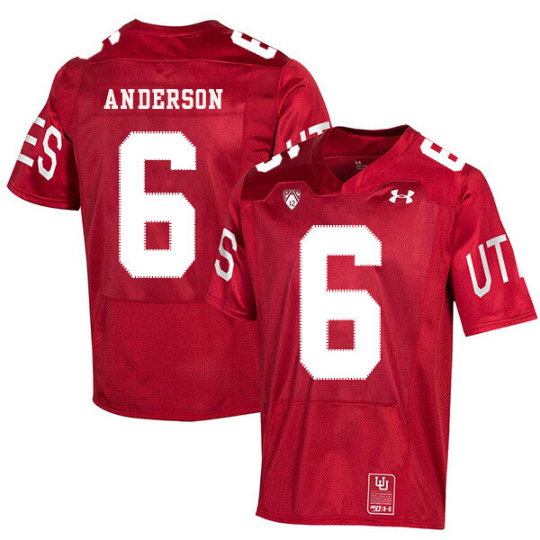 Utah Utes #6 Dres Anderson NCAA College Football Jersey Red