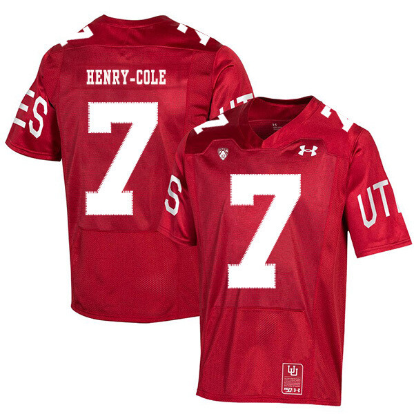 Utah Utes #7 Devonta'e Henry-Cole NCAA College Football Jersey Red