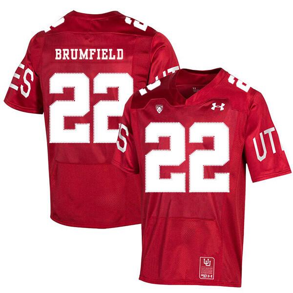 Utah Utes #22 Devin Brumfield NCAA College Football Jersey Red