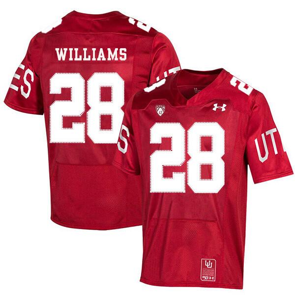 Utah Utes #28 Joe Williams NCAA College Football Jersey Red