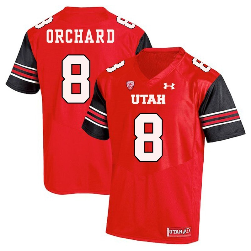 Utah Utes #8 Nate Orchard NCAA College Football Jersey Red