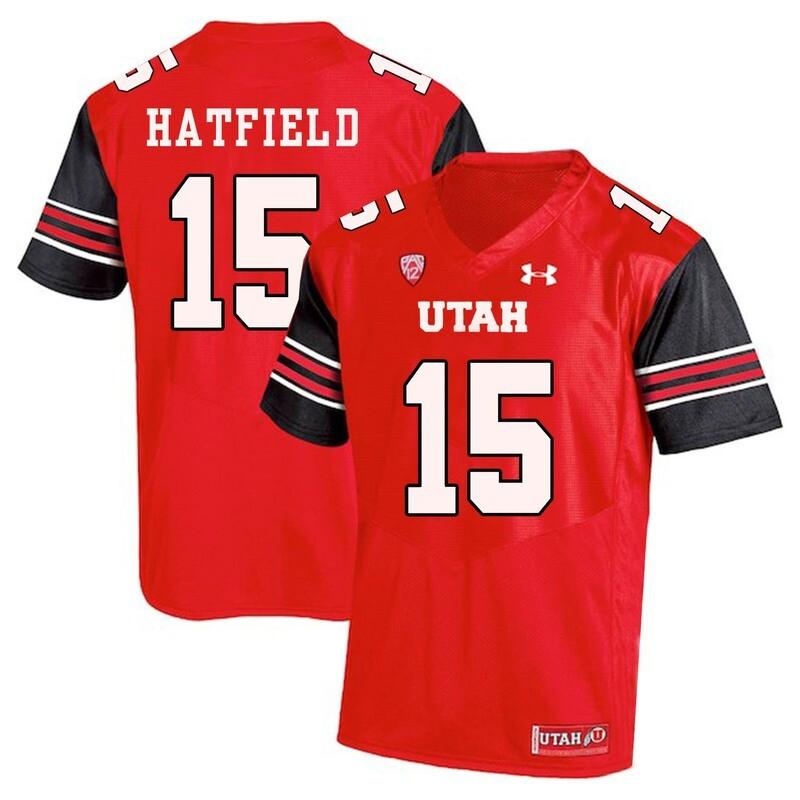 Utah Utes #15 Dominique Hatfield NCAA College Football Jersey Red