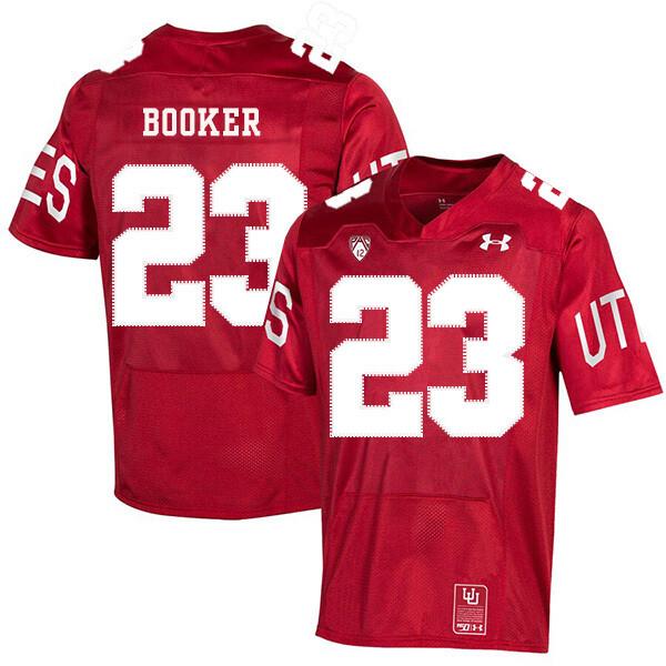 Utah Utes #23 Devontae Booker NCAA College Football Jersey Red
