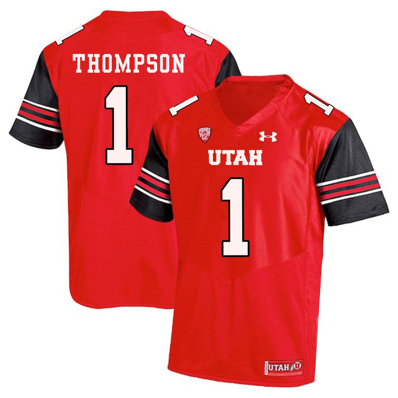 Utah Utes #1 Kendal Thompson NCAA College Football Jersey Red