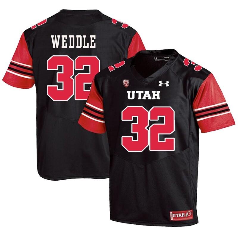 Utah Utes #32 Eric Weddle NCAA College Football Jersey Black
