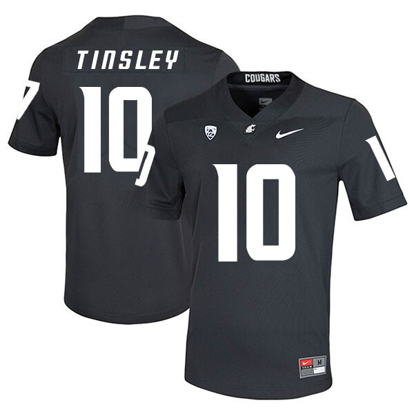 Washington State Cougars #10 Trey Tinsley College Football Jersey Black
