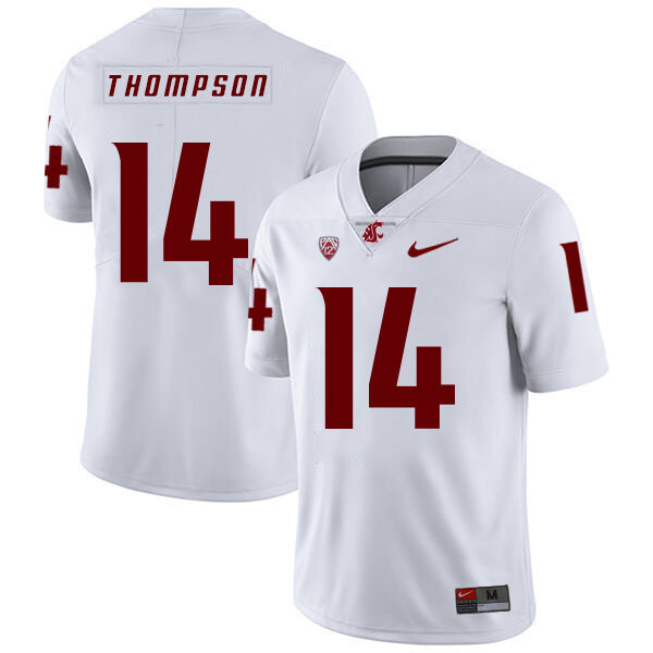Washington State Cougars #14 Jack Thompson NCAA Football Jersey White
