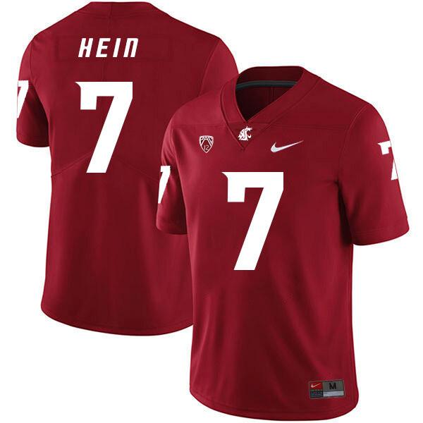 Washington State Cougars #7 Mel Hein Football Jersey Red