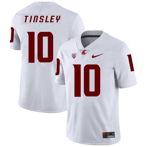 Washington State Cougars #10 Trey Tinsley College Football Jersey White