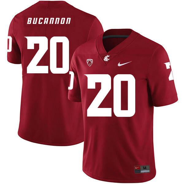 Washington State Cougars #20 Deone Bucannon NCAA Football Jersey Red