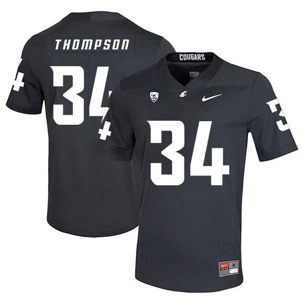 Washington State Cougars #34 Jalen Thompson NCAA Football Jersey Black
