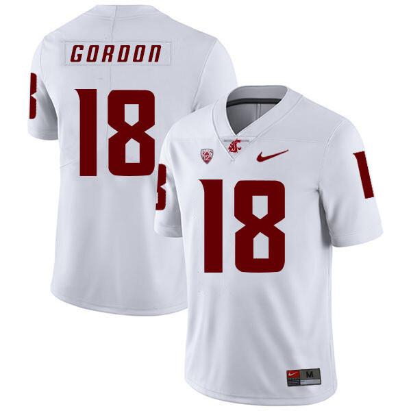 Washington State Cougars #18 Anthony Gordon NCAA Football Jersey White