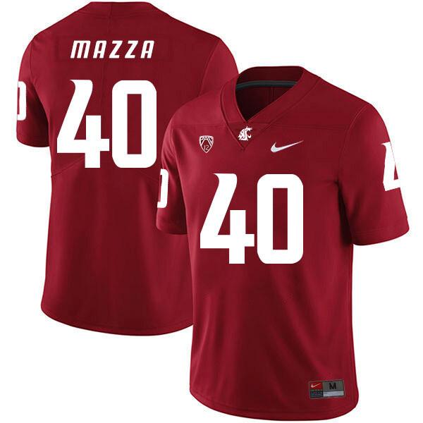 Washington State Cougars #40 Blake Mazza NCAA Football Jersey Red