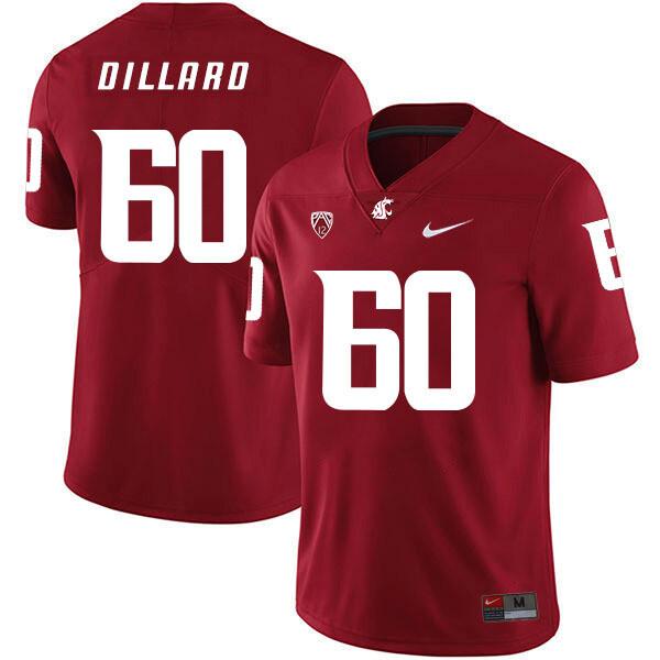 Washington State Cougars #60 Andre Dillard NCAA Football Jersey Red