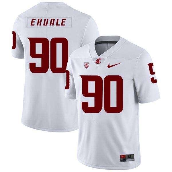 Washington State Cougars #90 Daniel Ekuale NCAA Football Jersey White