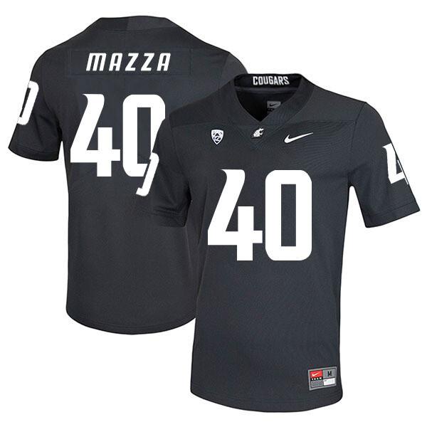 Washington State Cougars #40 Blake Mazza NCAA Football Jersey Black