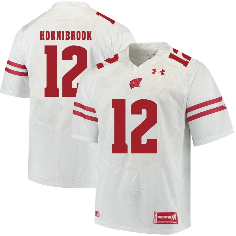 Wisconsin Badgers #12 Alex Hornibrook College Football Jersey White