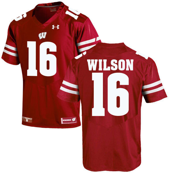Wisconsin Badgers #16 Russell Wilson College Football Jersey Red