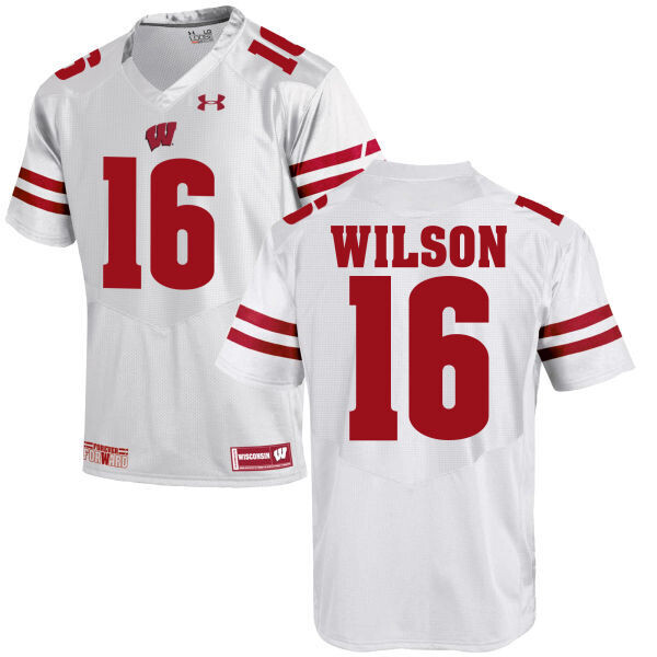 Wisconsin Badgers #16 Russell Wilson College Football Jersey White