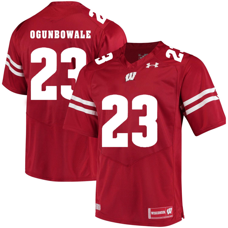Wisconsin Badgers #23 Dare Ogunbowale College Football Jersey Red