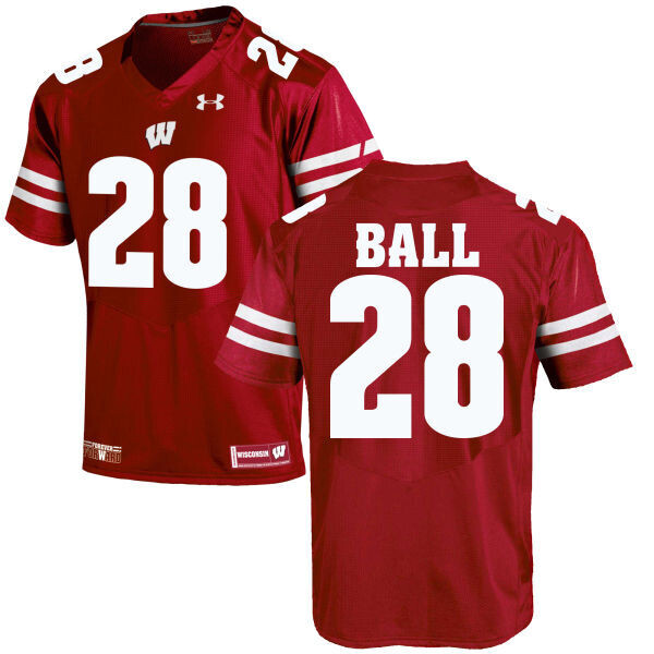 Wisconsin Badgers #28 Montee Ball College Football Jersey Red