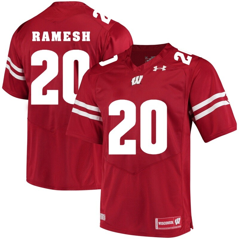 Wisconsin Badgers #20 Austin Ramesh College Football Jersey Red