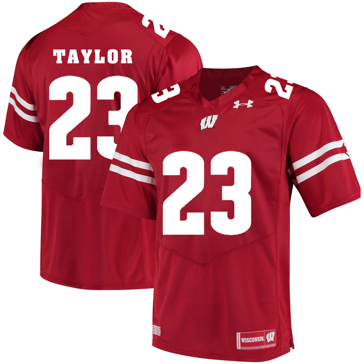 Wisconsin Badgers #23 Jonathan Taylor College Football Jersey Red