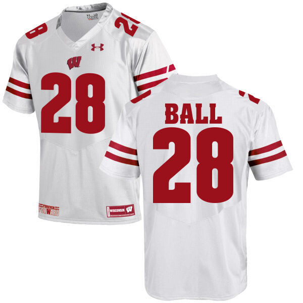 Wisconsin Badgers #28 Montee Ball College Football Jersey White