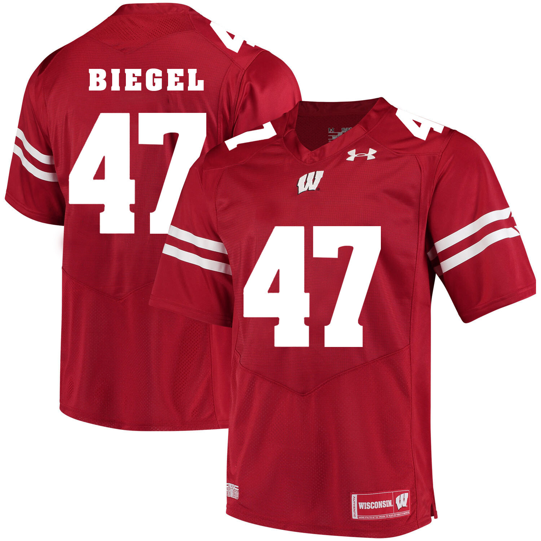 Wisconsin Badgers #47 Vince Biegel NCAA College Football Jersey Red