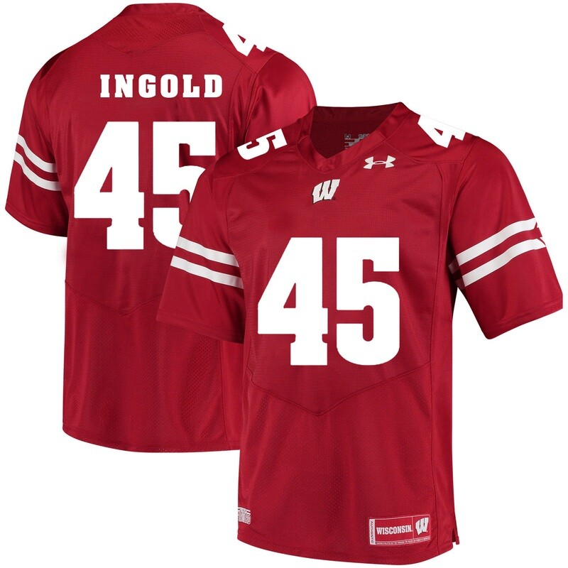 Wisconsin Badgers #45 Alec Ingold College Football Jersey Red