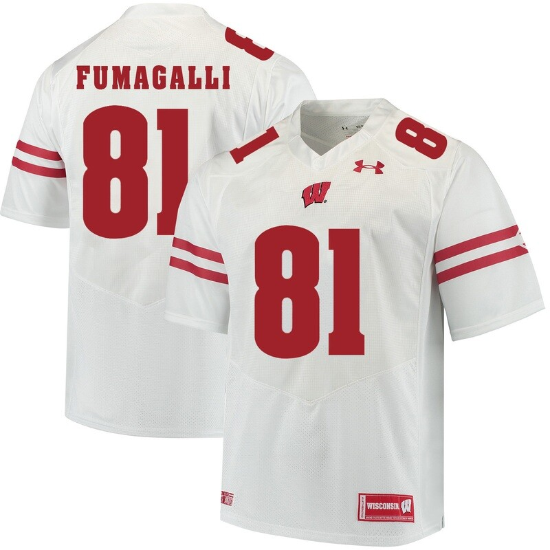 Wisconsin Badgers #81 Troy Fumagalli College Football Jersey White