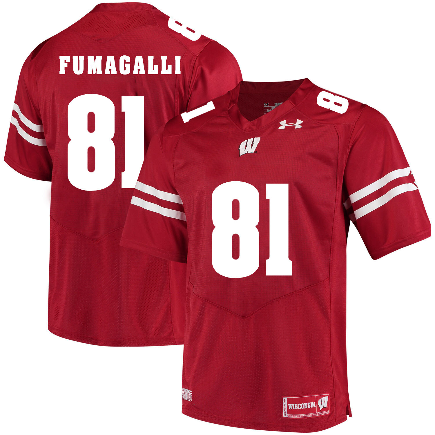 Wisconsin Badgers #81 Troy Fumagalli NCAA College Football Jersey Red