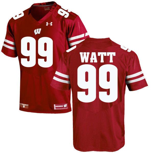 Wisconsin Badgers #99 JJ Watt NCAA College Football Jersey Red